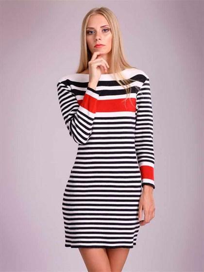 Трикотажное платье льняное - фото 23366