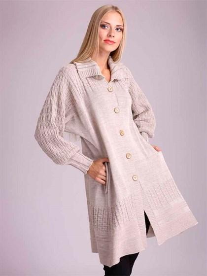 Пальто льняное с полушерстью - фото 23388