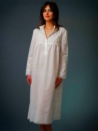 Сорочка ночная из хлопка - фото 23425