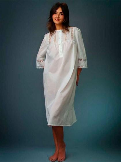 Сорочка женская из хлопка - фото 23431