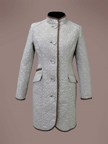 Стеганое пальто - фото 23503