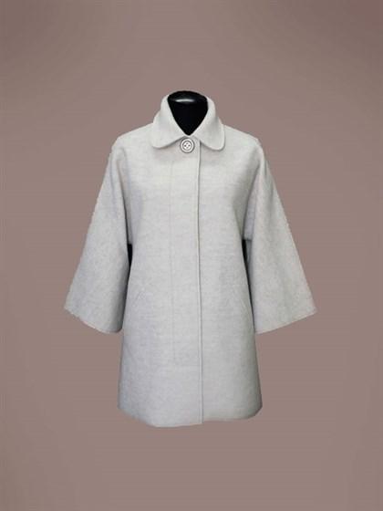 Валяное пальто из шерсти и льна - фото 23518
