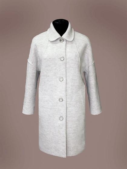 Пальто валяное из шерсти с добавлением льна - фото 23525