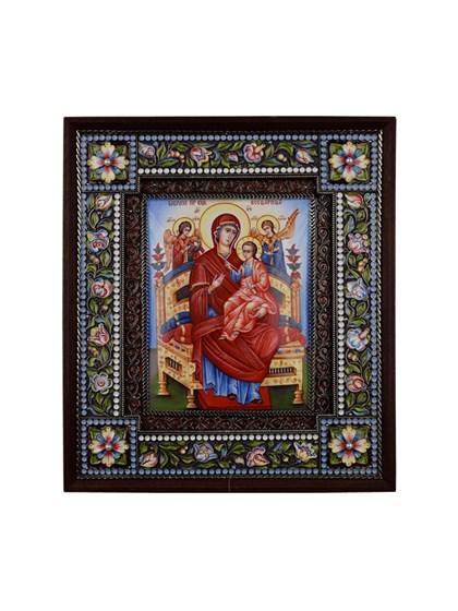 Икона финифть Пресвятая Богородица Всецарица - фото 23946