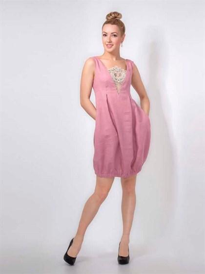 Платье льняное - фото 24067