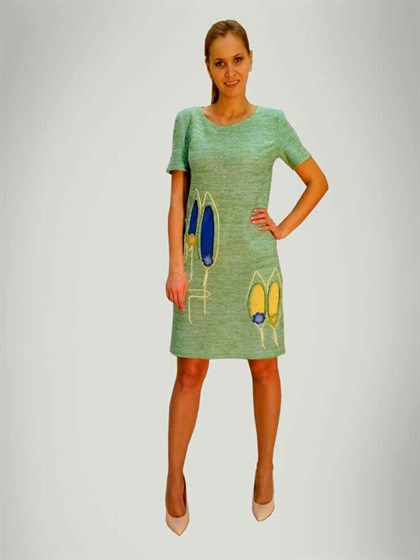 Платье изо льна - фото 24107
