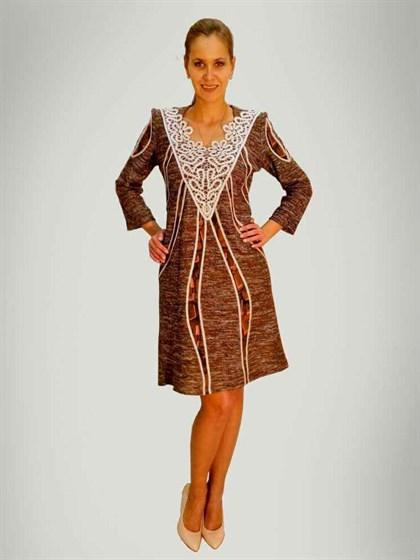 Платье с кружевом - фото 24111
