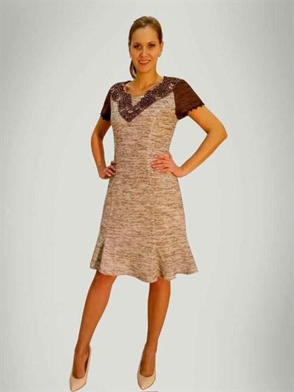 Платье изо льна - фото 24117