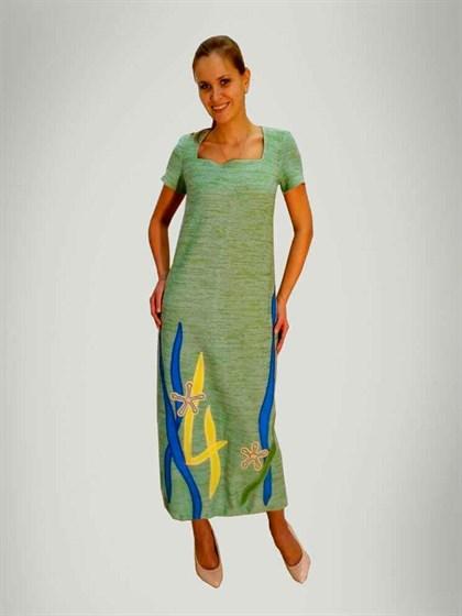 Длинное платье изо льна - Арт 449-14   Интернет магазин ArgNord.ru