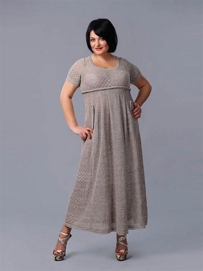 Длинное платье из льна - фото 24137