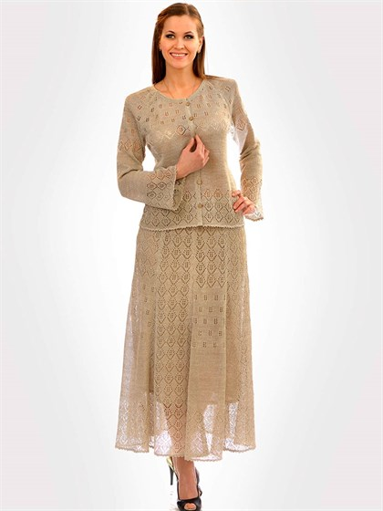 Льняной костюм - фото 24273