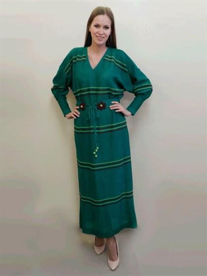 Длинное платье изо льна - фото 24347