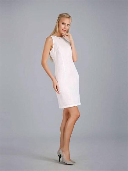Платье из отбеленного льна - фото 24371