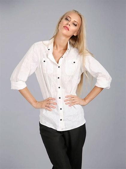Блуза женская льняная - фото 24390