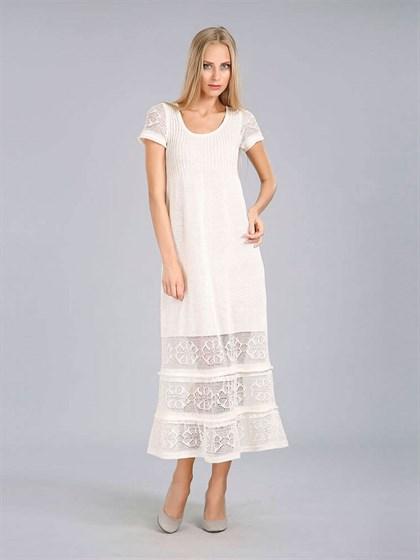 Длинное льняное платье - фото 24410