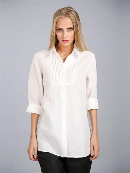 Блуза женская изо льна - фото 24412