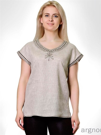 Льняная блуза - фото 24430