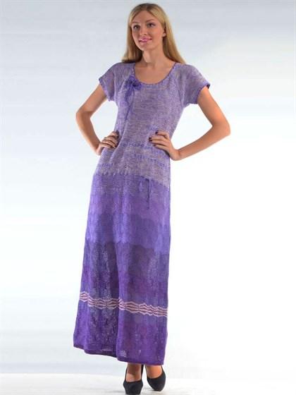 Длинное льняное платье - фото 24514