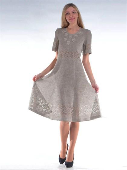 Платье летнее льняное - фото 24637