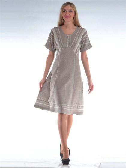 Платье льняное - фото 24682