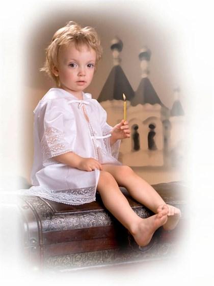 Распашонка крестильная для новорожденного - фото 24714