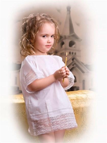 Сорочка крестильная детская - фото 24717