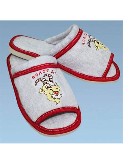 Тапки валяные с открытым носком - фото 24801