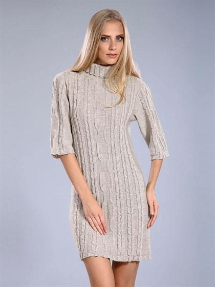 Платье льняное с полушерстью - фото 24866