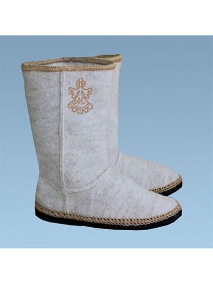 Домашная обувь из валяной шерсти - фото 24901