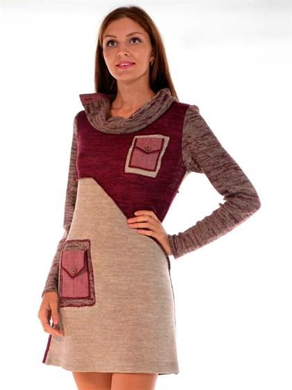 Платье с накладными карманами - фото 24919