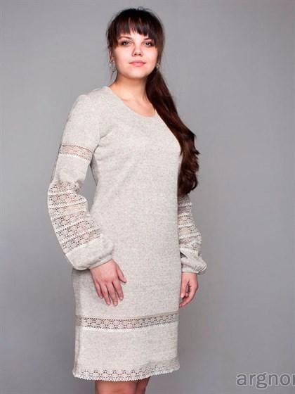 Платье с кружевом - фото 24962