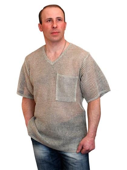 Льняной мужской джемпер - фото 25004