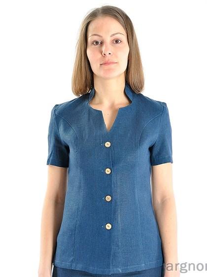 Женская блуза изо льна - фото 25187