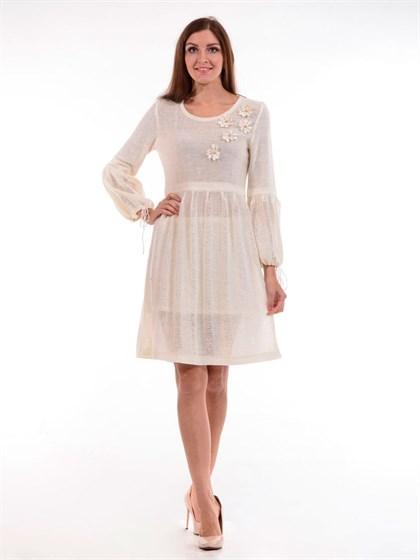 Платье льняное с ромашками - фото 25268