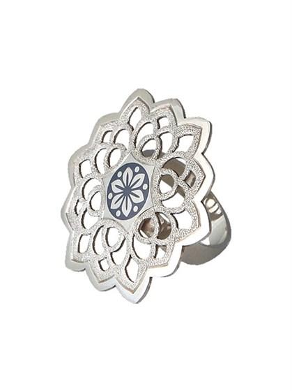 "Кольцо из серебра ""Снежинка"" - фото 25346"