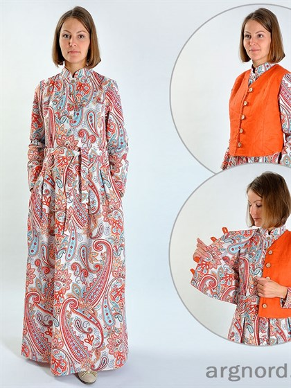 Длинное платье из льна - фото 25368