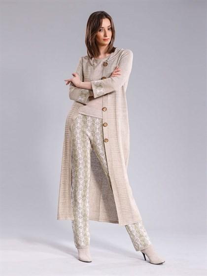 Длинное льняное пальто - фото 25495