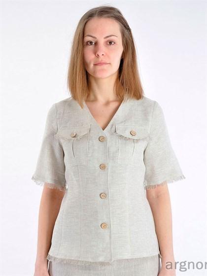 Блуза льняная - фото 25621