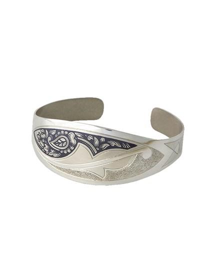 Браслет серебряный с чернением - фото 25634