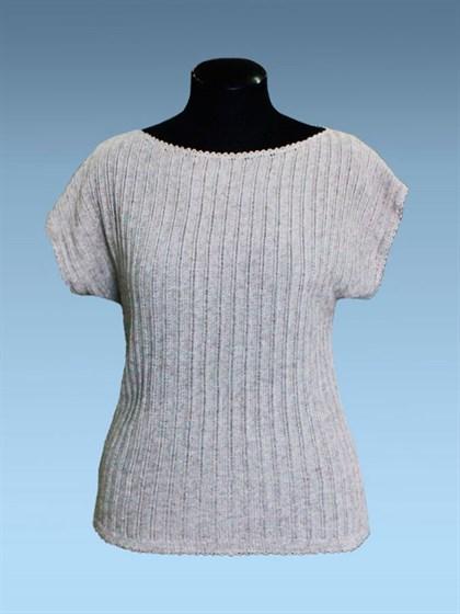 Льняная блуза с вырезом лодочка - фото 25647