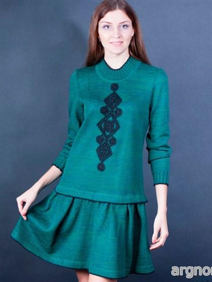 Платье трикотажное изо льна - фото 25780