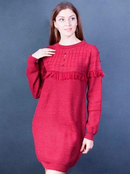 Платье вязаное изо льна - фото 25822