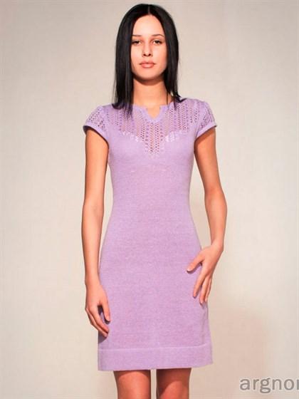 Платье из льна Фиалка - фото 26122