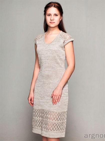 Льняное платье с ажурным орнаментом - фото 26134