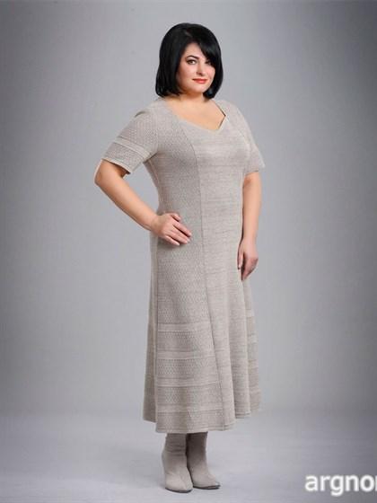 Платье льняное с коротким рукавом - фото 26207