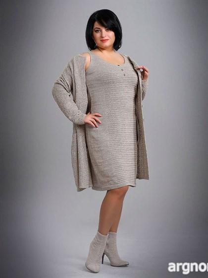 Трикотажное платье-сарафан - фото 26214