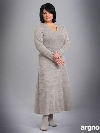 Платье льняное с длинными рукавами - фото 26225