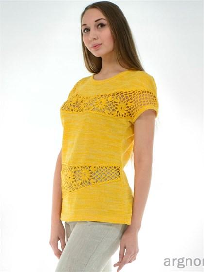 Льняная желтая туника - фото 26357