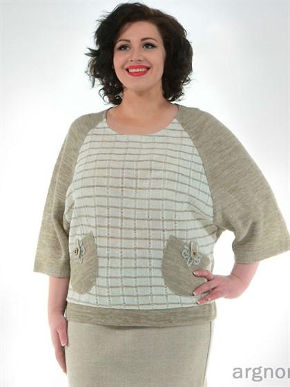 Джемпер с декоративными карманами - фото 26450