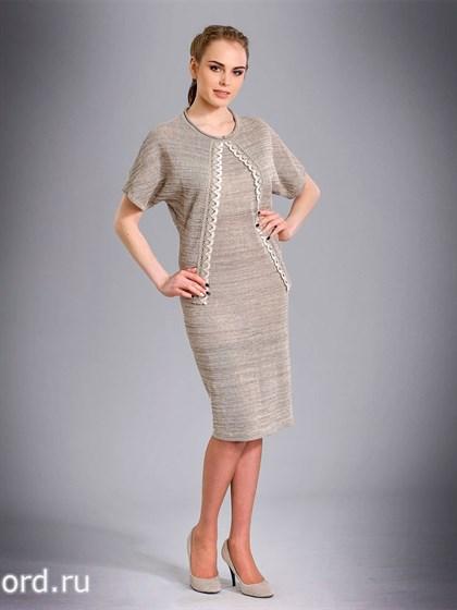 Льняное платье с имитацией жакета - фото 26545